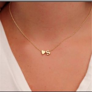 "Letter ""N"" necklace with a heart - letter ""N"""